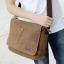 CV10-Brown กระเป๋าสะพายข้าง ผ้าแคนวาส สีน้ำตาล thumbnail 4