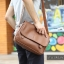 LT11-Brown กระเป๋าสะพายข้าง หนัง PU สีน้ำตาล thumbnail 17