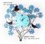นาฬิกาแขวนผนังโมเดิร์นเก๋ๆ ดีไซน์รูปช่อดอกไม้ ประดับด้วยคริสตัลสีฟ้า thumbnail 1