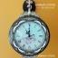 นาฬิกาแขวนผนัง 2 หน้าประดับเพชร ตัวเรือนสีน้ำตาล สไตล์โรมัน ประดับลวดลายสวยเก๋ thumbnail 1