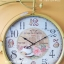 นาฬิกาติดผนังตกแต่งบ้าน Vintage รูปจักรยานสีเหลือง หน้าปัดใหญ่ thumbnail 2