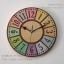 นาฬิกาติดผนังไม้จริง รุ่น Stencil-Colour ฉลุลายและเพ้นท์สี thumbnail 1