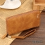 WL07-Brown กระเป๋าสตางค์ใบยาว กระเป๋าสตางค์ผู้ชาย หนัง PU สีน้ำตาล thumbnail 6
