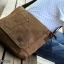 CV10-Brown กระเป๋าสะพายข้าง ผ้าแคนวาส สีน้ำตาล thumbnail 6