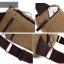 CV02-Khaki กระเป๋าสะพายไหล่ กระเป๋าคาดอก ผ้าแคนวาส สีกากี thumbnail 8