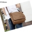 CV10-Brown กระเป๋าสะพายข้าง ผ้าแคนวาส สีน้ำตาล thumbnail 3