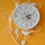 นาฬิกาแขวนผนังวินเทจสีขาว รูปกิ่งไม้มีนกเกาะ 2 ตัว thumbnail 1