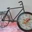 นาฬิกาตั้งโต๊ะวินเทจ รูปทรงจักรยานสองล้อโครงโลหะสีดำ thumbnail 1