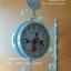 นาฬิกาแขวนผนังสไตล์วินเทจ Vintage รูปไก่กระดิ่งสีขาว ดูเวลาได้ 2 ด้าน - ทำจากเหล็ก thumbnail 2
