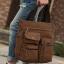CV18-Brown กระเป๋าถือผู้ชาย + สะพายข้าง ผ้าแคนวาส สีน้ำตาล thumbnail 10