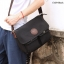CV09-Black กระเป๋าสะพายข้าง ผ้าแคนวาส สีดำ thumbnail 7