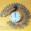 นาฬิกาติดผนัง Modern รูปนกยูงทอง รหัส HT0010 ประดับคริสตัล thumbnail 1