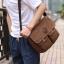 CV09-Brown กระเป๋าสะพายข้าง ผ้าแคนวาส สีน้ำตาล thumbnail 4