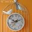นาฬิกาแขวนแต่งบ้าน รูปกรงนกติดผนัง สีขาว thumbnail 1