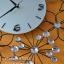 นาฬิกาติดผนังสวยๆเก๋ๆ รูปทรงดอกไม้ประดับพลอย thumbnail 4