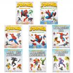 Marvel Sticker Book Collection Spiderman, Avengers - 8 Books