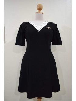 ชุดดำพร้อมส่ง สำหรับสาวอวบ++ F 44-48นิ้ว P-580-2