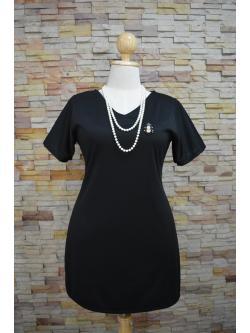 พร้อมส่งชุดดำ สำหรับสาวอวบ++ F 38-44นิ้ว T-594