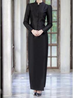 พร้อมส่งชุดไทยจิตรลดาสีดำ สำหรับสาวอวบ++ Size 3XL ,4XL,5XL