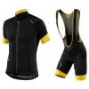 **สินค้าพรีออเดอร์**ชุดปั่นจักรยาน 2015 ลดพิเศษ สีดำเหลือง สุดเท่ห์ (เสื้อแขนสั้นจักรยาน+กางเกงจักรยาน)