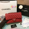 Chanel Classic Carvier Leather สีแดง