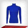 เสื้อรัดกล้ามเนื้อ Rash Guard แขนยาวคอตั้ง สีน้ำเงิน mediumblue