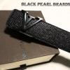 เข็มขัด Louis Vuitton ลายหนังงูสีดำเงา (หัว lv สีดำ)