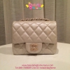 Chanel Classic mini สีpinkมุกวิ๊ง