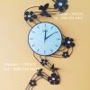 นาฬิกาแขวน Modern แบบติดผนัง รุ่นผีเสื้อดอกไม้
