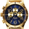 นาฬิกา NIXON Men Chronograph Chronograph Blue Gold Dails Watch A4861922 48-20