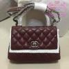 Chanel coco mini Handle Bag สีแดงเลือดนก งานHiend Original
