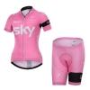 **พรีออเดอร์**ชุดปั่นจักรยานผู้หญิง sky 2015 size S-2XL