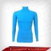 เสื้อรัดกล้ามเนื้อ Rash Guard แขนยาวคอตั้ง สีฟ้า dodgerblue