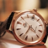 Orient Automatic White Dial Rose Gold Tone Leather Strap FER24002W