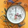 นาฬิกาติดผนังเก๋ๆ รูปช่อดอกไม้วินเทจ เดินเงียบ ไม่มีเสียง