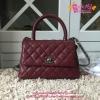 Chanel Mini Coco Handle Bag สีแดงเลือดนก งานHiend Original