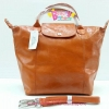 Longchamp Le Pliage Cuir สีส้ม มีSize S,M,L
