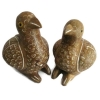 ชุด นกคุ้ม 2 ตัว (ตัวผู้ กับ ตัวเมีย) แกะสลักจากไม้สัก ขนาดเล็ก
