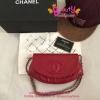 Chanel half moon bag สีแดง งานHiend