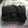 Chanel Carvier Leather สีดำ