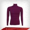 เสื้อรัดรูป Body Fit แขนยาวคอตั้ง สีม่วง purple