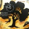 นาฬิกาแขวนผนังเก๋ๆ รูปต้นไม้และเด็กแกว่งชิงช้า