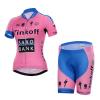 **สินค้าพรีออเดอร์**ชุดปั่นจักรยาน ผู้หญิง Tinkoff สีชมพูฟ้า