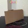 Prada Saffiano Leather Wallet สีครีม