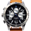 นาฬิกา NIXON Men Chronograph Chronograph Brown Leather Watch A3631602 48-20