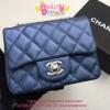 Chanel Classic mini 7 นิ้ว สีน้ำเงิน งานTOP MIRRORเกาหลีระดับHiend