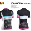 เสื้อจักรยานสำหรับสุภาพสตรี ลาย LOGO WOMAN
