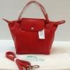 Longchamp Le Pliage Cuir size สีแดง