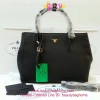 Prada shopping bag สีดำ