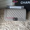 Chanel Boy สีเทา งานHiend Original